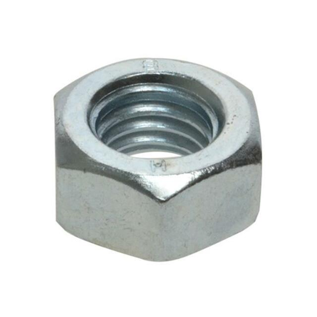 Zinc Plated M12 (12mm) Metric Coarse High Tensile Hex Standard Full Nut