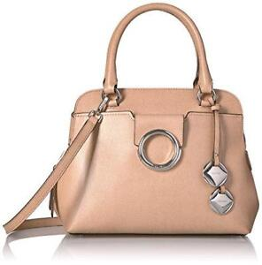 Calvin Klein NWT  248 Oat Tan Leather Reese Top Handle Satchel Purse ... 0a0c57416d