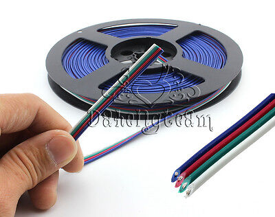 Firm Extension Cord Fairy Light Strip New 4pin LED RGB Cable Wire 3528 5050 SMD