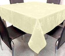 """Gorgeous Damask Rose 100% Cotton Tablecloth Pastel Lemon 34"""" / 86cm Square"""