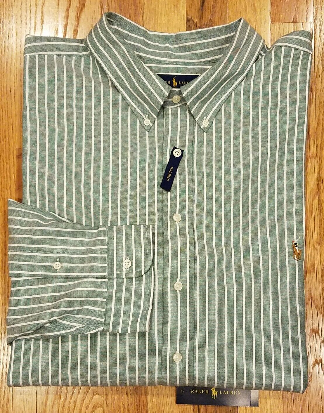 RALPH LAUREN MEN BIG TALL STRIPE LONG SLEEVE STRETCH OXFORD SHIRT 4XB THESPOT917
