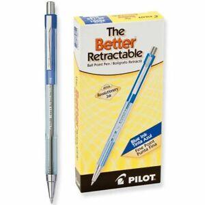 NEW Pilot The Better Retractable Ballpoint Pen, Fine Point, Blue, Pack of 12