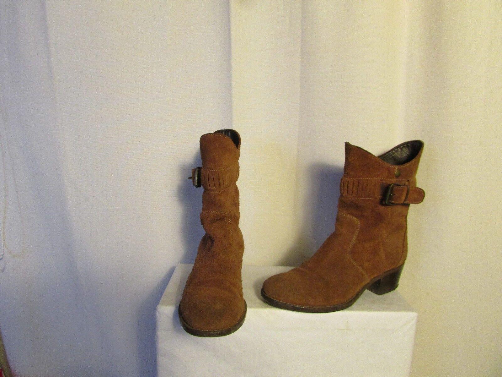 Boots stiefletten MOMA Suede Cognac 37