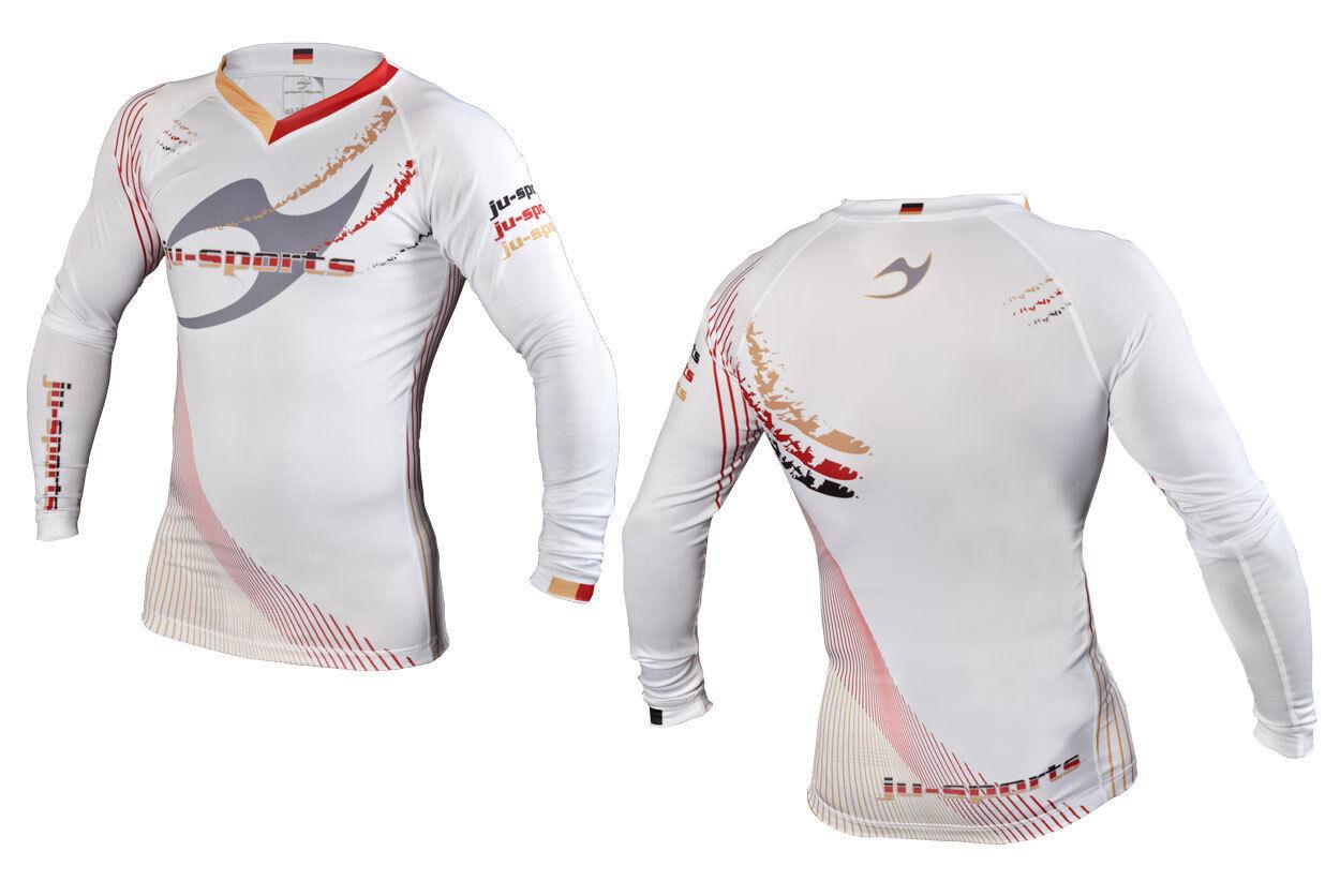 Ju-Sports Rashguard Germany langarm weiß weiß weiß - Compression Shirt f9c67f