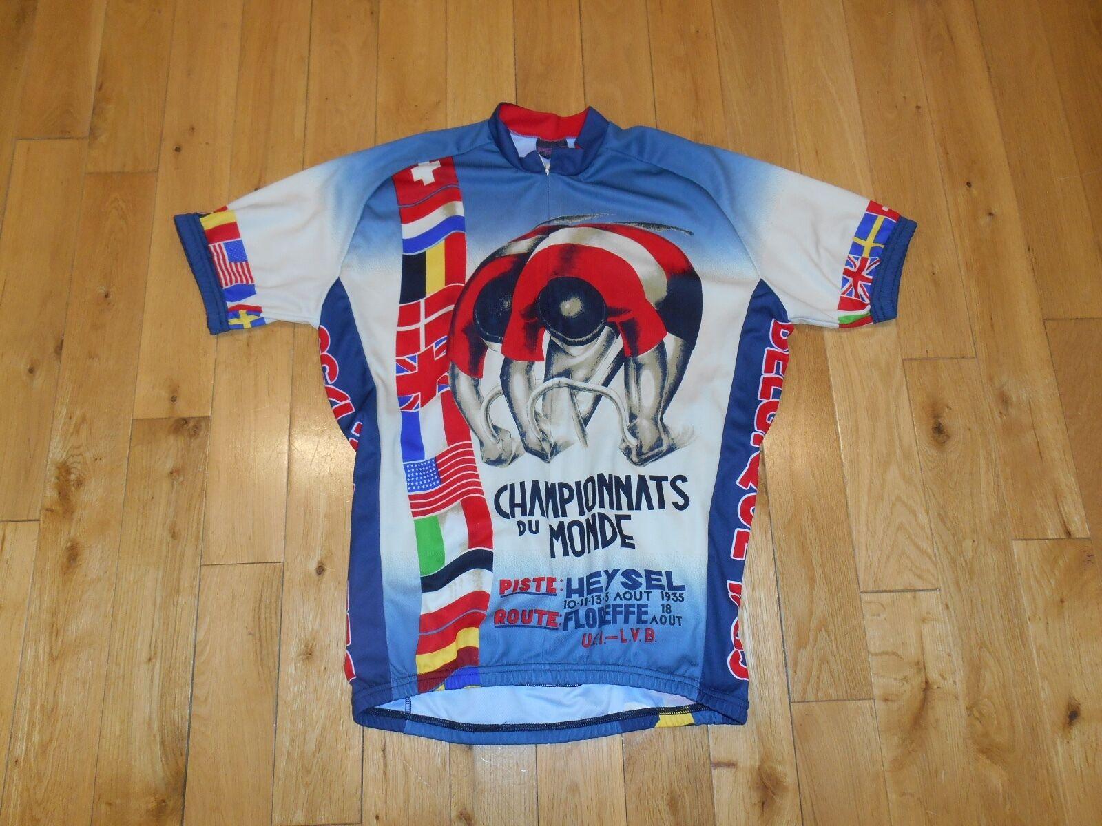 Retro Image CHAMPIONNATS DU MONDE 1935 CYCLING JERSEY SHIRT ADULT LG Champions