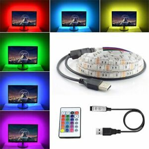 5m-Ruban-LED-Bande-USB-60-LEDs-5050-RGB-LED-TV-Light-Strip-Flexible-Noel-Deco-FR