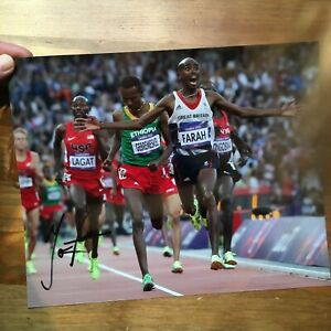 Mo Farah athletics olympics hand signed autograph 8x10 photo IP