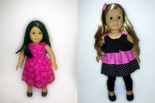 Lot of 2 Outfits w// Shoes Headband For 18 inch American Girl Doll 5 pieces!