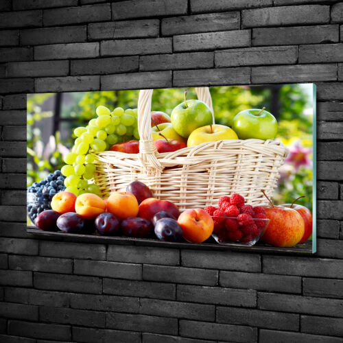 Glas-Bild Wandbilder Druck auf Glas 100x50 Deko Essen /& Getränke Obstkorb