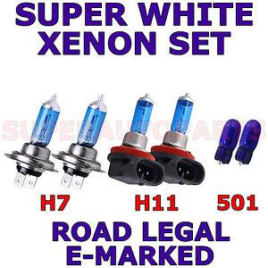 AUDI-A6-2011-SET-H7-H11-501-W5W-XENON-LIGHT-BULBS-HALOGEN-LAMP