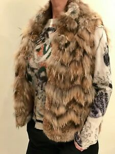 And Raccoon M Theory Fur Chevron Lunghezza Vest Rabbit Pattern Hip Donna f5nAAWwxEq
