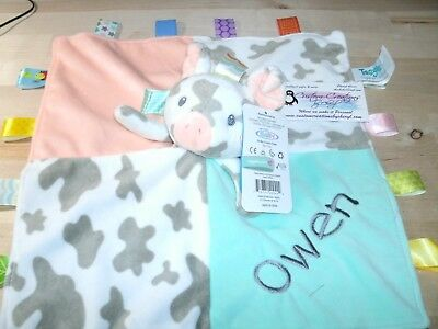 Racoon Taggie Animal Blanket Personalized Security Blanket Baby Blankie