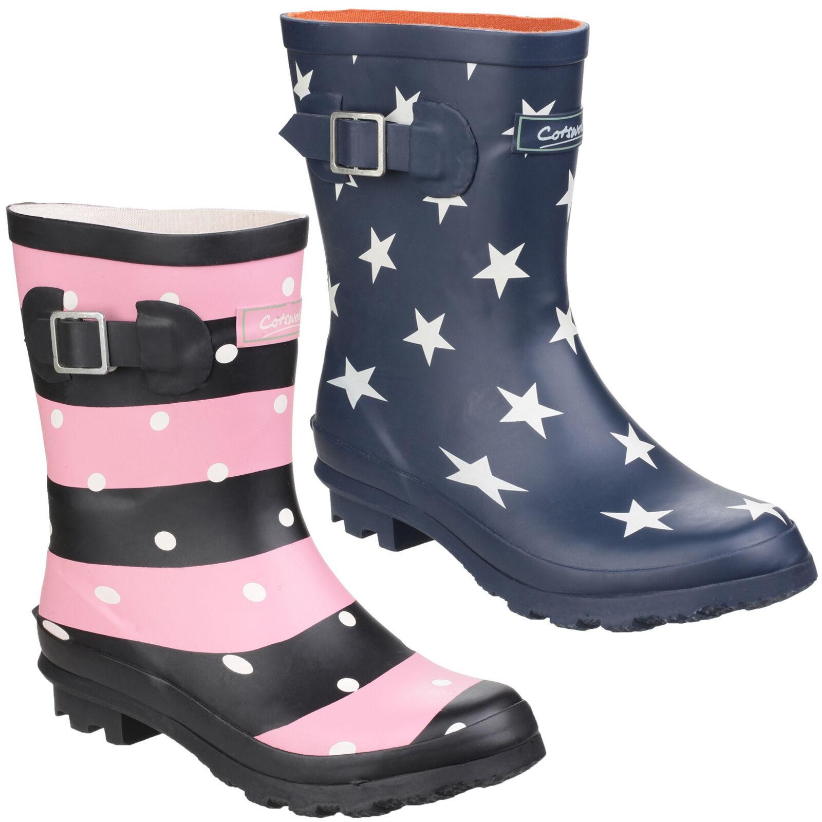 Cotswold Badminton Rubber Boots Womens Girls Waterproof Wellington Wellies UK3-8