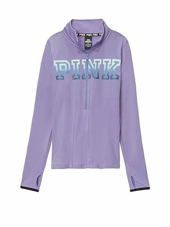 VICTORIA'S SECRET Pink NEW Ultimate Deep Zip Sweatshirt color Purple XS