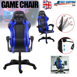 Gaming Racing Home Office Chairs Adjustable Executive Swivel Recliner Leather Uk Ebay