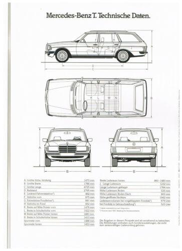 280 te prospetto di 1983 MERCEDES-BENZ w123 T-modelli 240 TD