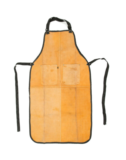 Leather Welding Safety Apron - Full Length with Chest Pockets