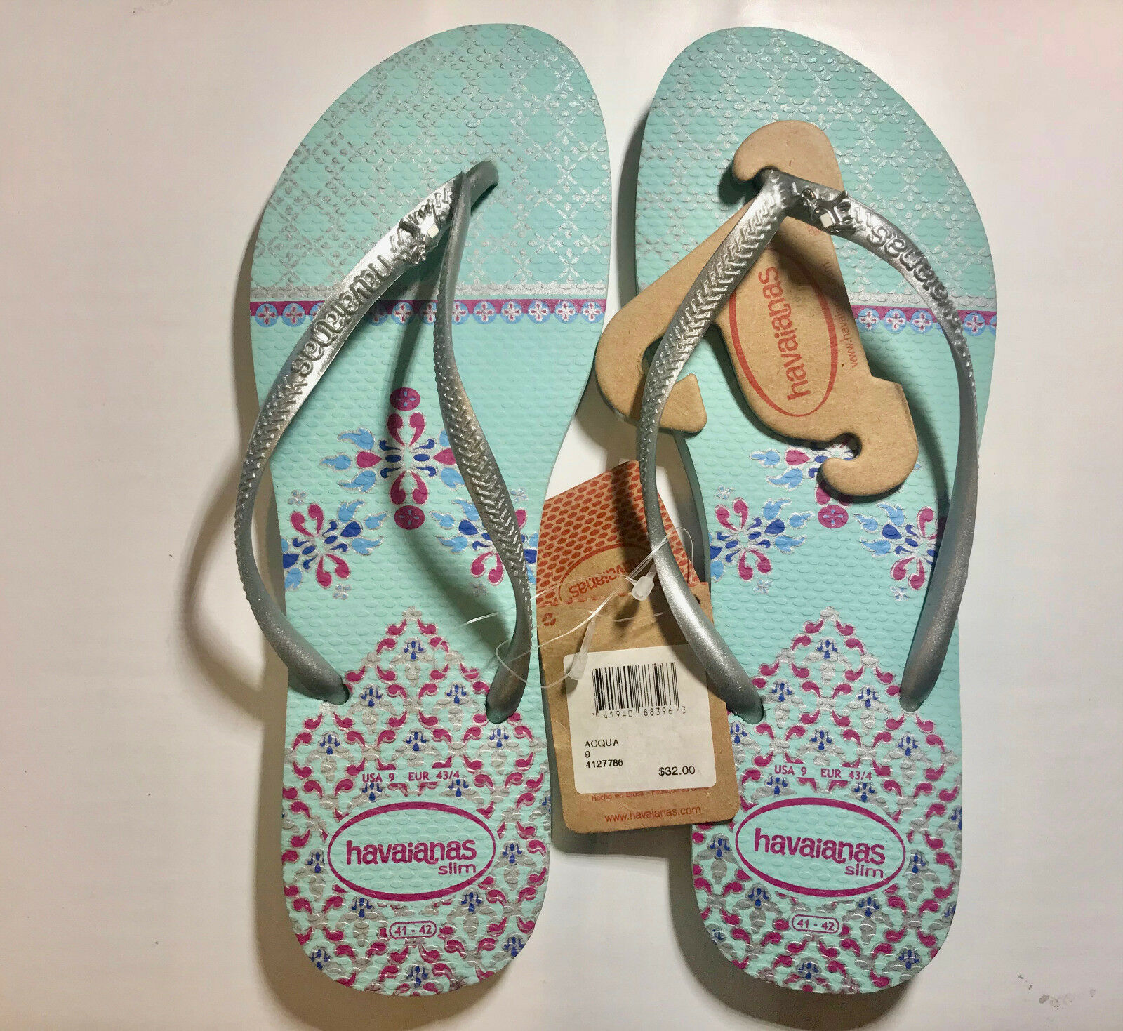 Havaianas Slim Cool Ice Brazilian Blue Flip Flops Authentic Brazilian Ice VARIOUS SIZE TO CHOO 82147a