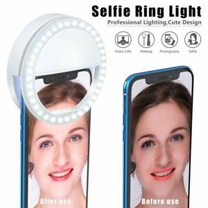 Selfie-LED-Light-Ring-Flash-Fill-Clip-Camera-For-Phone-Tablet-iPhone-Samsung
