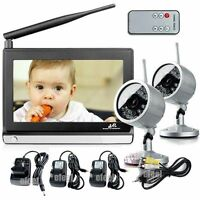 Baby Monitor 7 2.4ghz Wireless Ir Night Version Audio And Video 2pcs Camera