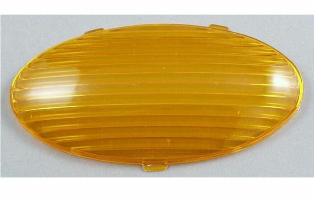 Replacement Lens for Oval Porch Light (Amber)
