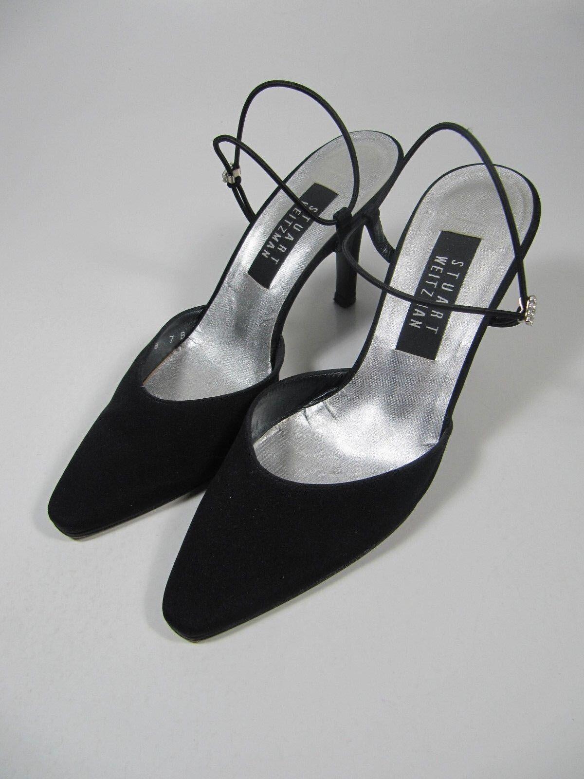 Stuart Weitzman Womens shoes Size 7B Black Slingback Strap Heels Pumps Formal