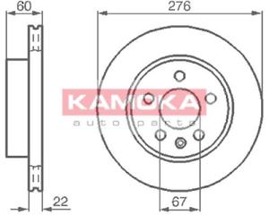 2 Stück Bremsscheibe Kamoka 1031720