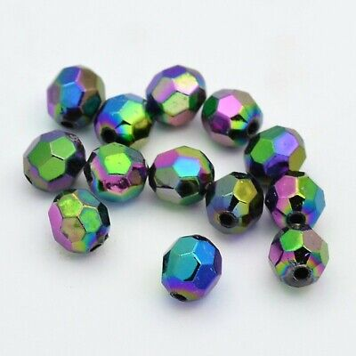 30 x Drop Pendants Mixed Color facetted 35mm x 9.5mm Hole 1mm earring suncatcher