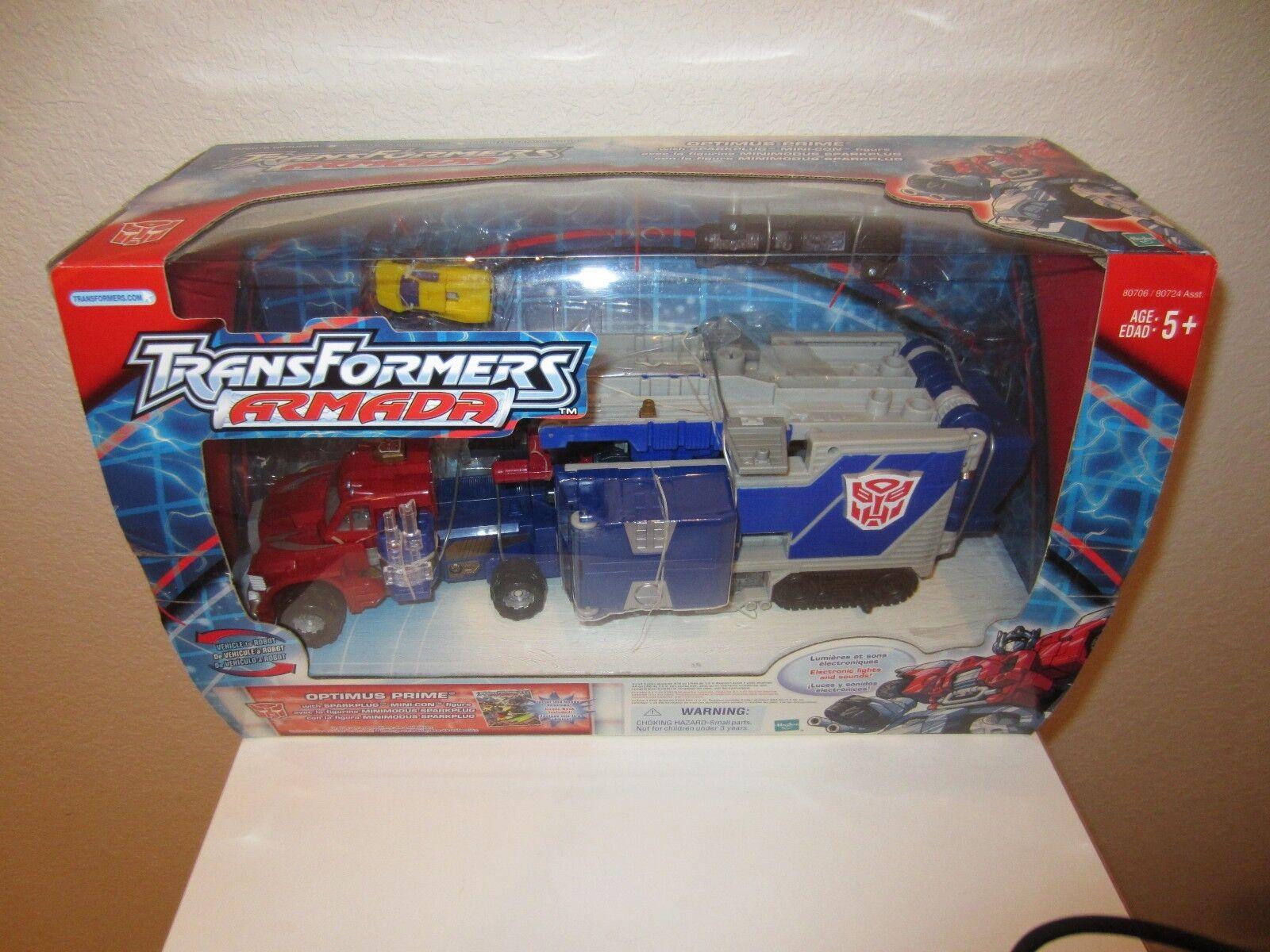 Transformers 2002 Armada súper Robot, Optimus Prime + Mini-Con y libro de historietas y en Caja Sellada