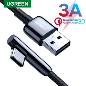 Ugreen-Braided-90-Degree-USB-C-Cable-USB-to-Type-C-3A-QC3-0-Fast-Charging-Cord
