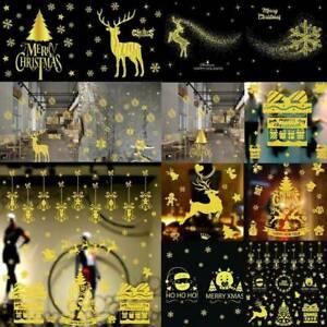 Christmas-Xmas-Santa-Removable-Window-Stickers-Art-Decal-Wall-Home-Shop-Decor