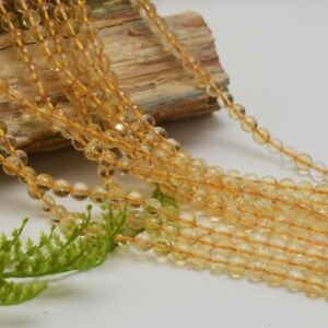 Citrine-Faceted-Round-6mm-Gemstone-Beads-70-Beads-16-034-Strand-UK-EBAYER