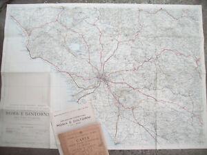 1930-GRANDE-CARTA-GEOGRAFICA-T-C-I-DINTORNI-DI-ROMA