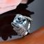 18ct-White-Gold-Magnificent-Natural-Aquamarine-and-Diamonds-Cocktail-Ring-VVS thumbnail 2