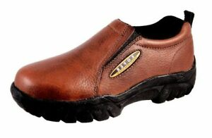 roper casual shoes mens leather sport slip brown 09020