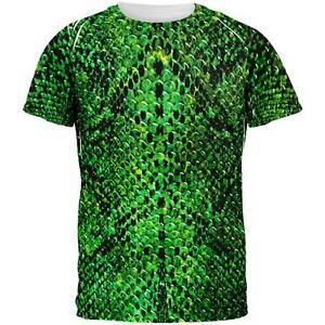 Halloween-Verde-Serpente-Pelle-di-Serpente-Costume-Tutto-Da-Uomo-T-Shirt