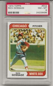 SET-BREAK-1974-TOPPS-542-RICH-GOSSAGE-PSA-8-NM-MT-HOF-2ND-YEAR-CENTERED