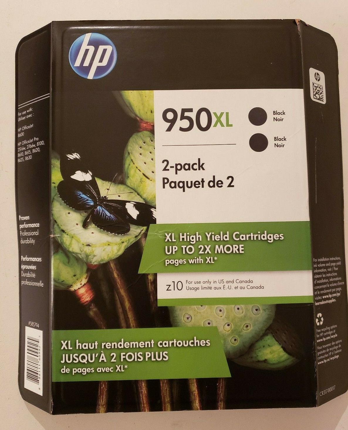 HP 950XL BLACK /& 951 COLOR INK OFFICEJET PRO 8600 GENUINE NEW OEM SEALED 08//2019