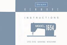 KENMORE 1654,158.16540 OWNER'S Guide / INSTRUCTION Manual * PDF DOWNLOAD Link