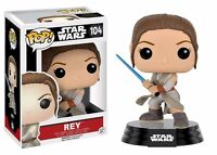 Funko Pop Star Wars Episode 7 Rey With Lightsaber Vinyl Action Figure on sale