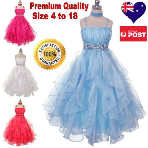 Flower Girl Dress Communion Confirmation Girls Dress Pageant Wedding Size 4 to18