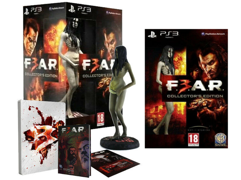 BNIB COLLECTOR'S EDITION F.E.A.R. 3 FEAR F3AR SET PS3 GAME GAME PS3 ALMA FIGURE SEALED cf4744