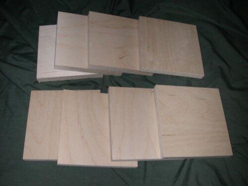 "12 Baltic Birch Plywood Woodcut Painting Encaustic Panels Wood  6/"" X 6/"""