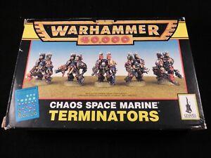 2019 DernièRe Conception Warhammer 40,000 Chaos Space Marine Metal Inutilisé Terminator Squad Boxed Complete-afficher Le Titre D'origine Belle Apparence