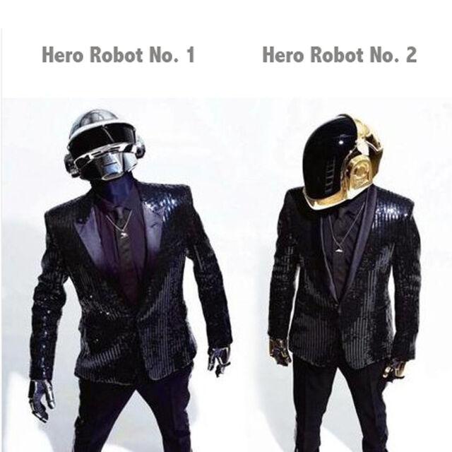Daft Punk Sparking Black Sequin Performance Jacket Costume Cosplay Halloween
