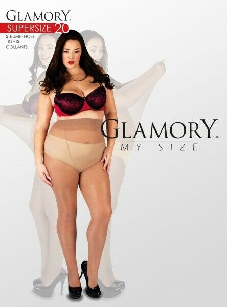 GLAMORY Supersize 20 bis Plus Größe 10XL schwarz G-50222