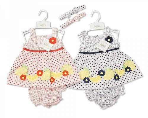 Baby Girl Summer outfits 3 pcs set Dress+Knicker+Headband