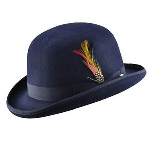 La imagen se está cargando 100-Lana-Alta-Calidad-Sombrero -bombin-con-Desprendible- 3ae3e3a42c3