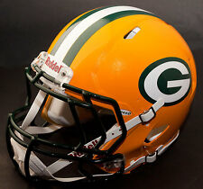 GREEN BAY PACKERS NFL Authentic GAMEDAY Football Helmet w/ S2EG Facemask