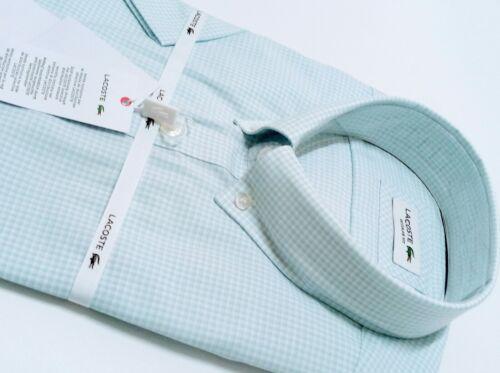 Lacoste Men/'s Regular Fit Poplin Shirt Short Sleeve